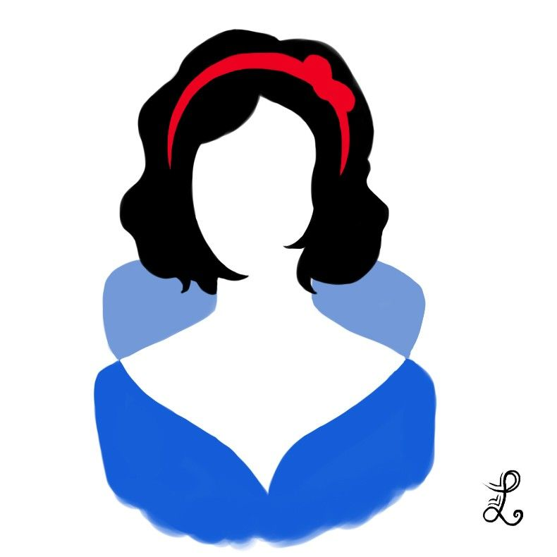 790x790 Snow White Silhouette