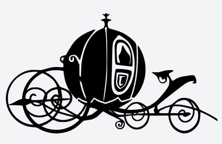 712x462 Cinderella Carriage Silhouette Clipart