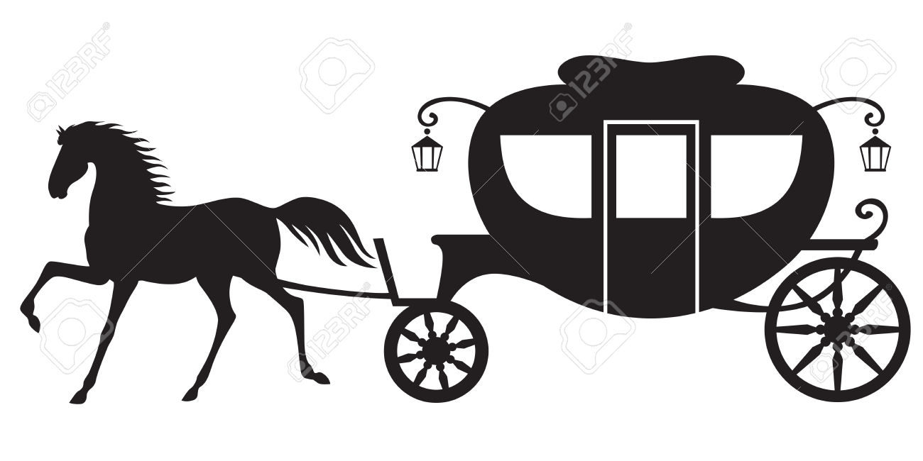 1300x650 Horse And Carriage Silhouette Clip Art 101 Clip Art