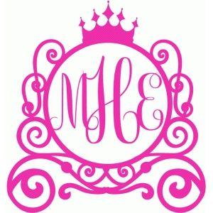 300x300 Princess Carriage Monogram Fonts, Printables Etc