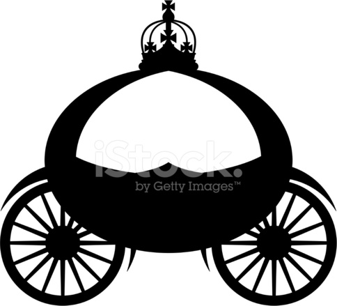 484x439 Royal Carriage Silhouette Stock Vector