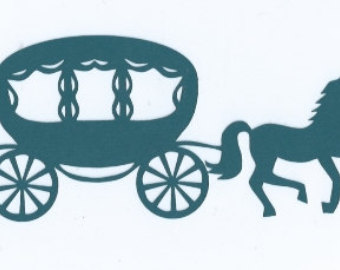 340x270 Cinderella Horse And Carriage Silhouette