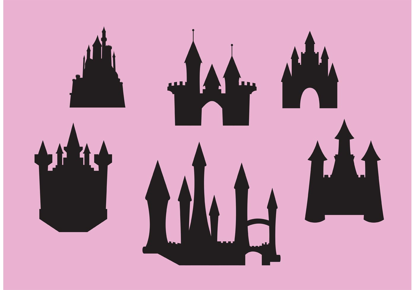 1400x980 Princess Silhouette Free Vector Art