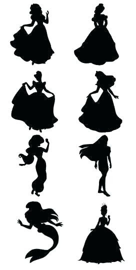272x540 Wall Arts Disney Princess Silhouette Wall Art Instant Download