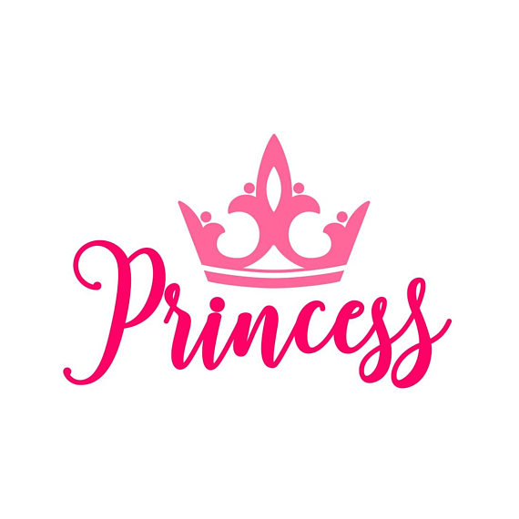 570x570 Princess Crown Phrase Graphics Svg Dxf Eps Png Cdr Ai Pdf Vector