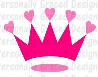 340x270 Princess Crown Svg, Princess Monogram, Svg, Dxf, Eps, Wand Svg