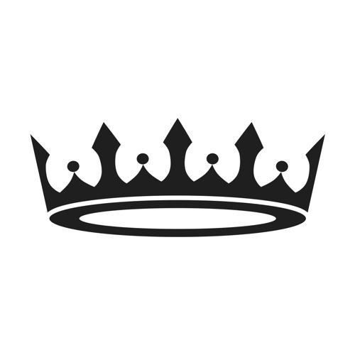 500x500 Stencil Premium Prince Princess Crown Svg