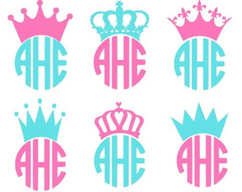 340x270 Crown Svg, Crowns Svg, Crown Monogram Svg, Princess Crown Svg