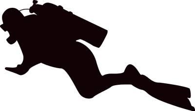 400x228 Scuba Diver Png Black White Transparent Scuba Diver Black
