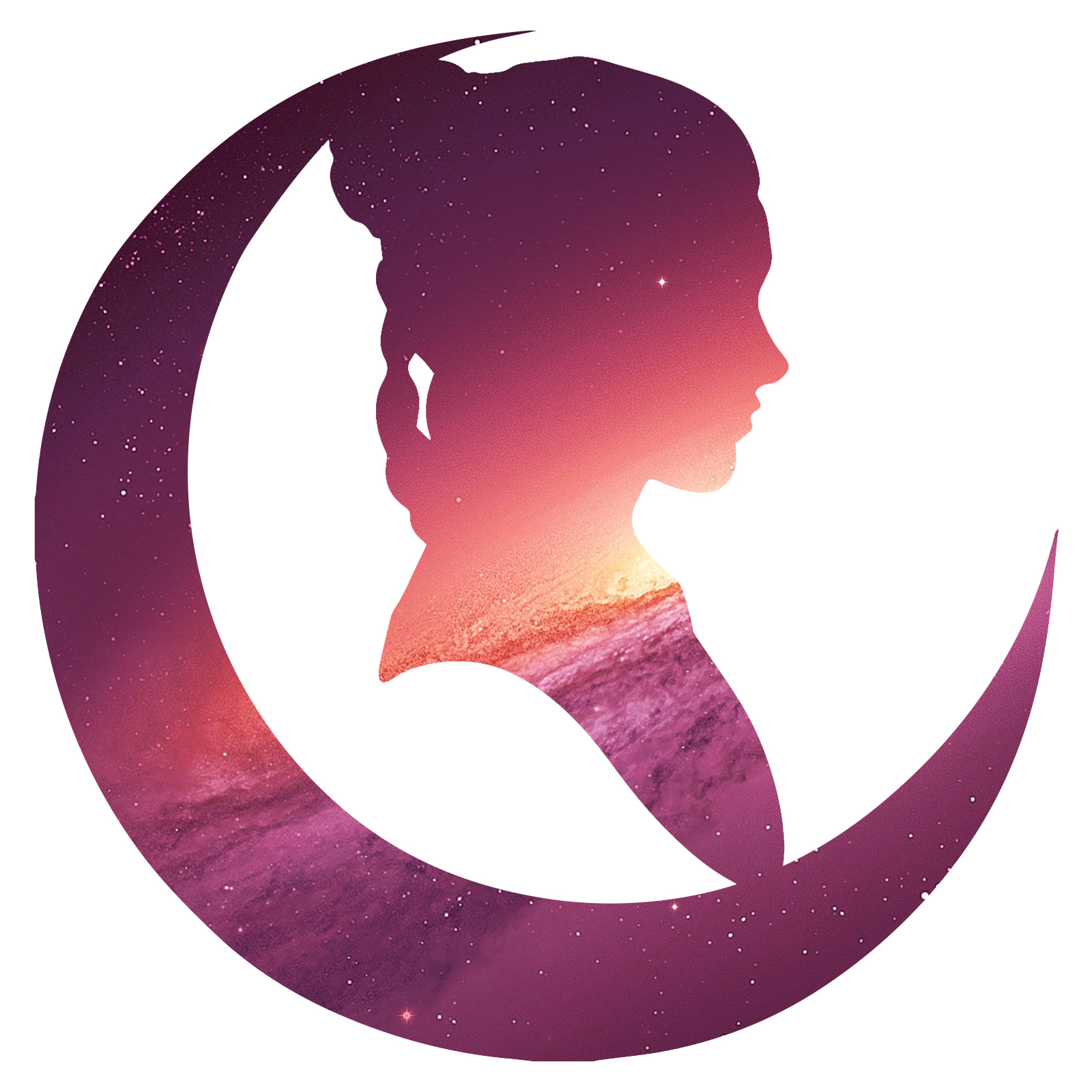 1600x1600 Princess Outline Galaxy Sky Space Leia Silhouette Carrie Sticker 5