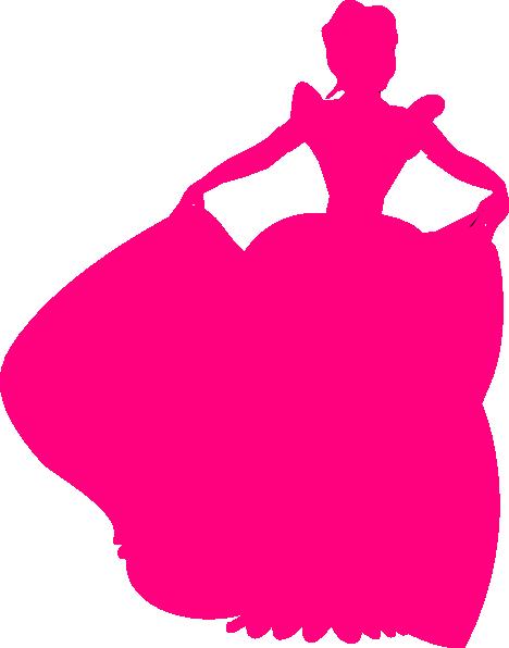 468x596 Pink Princess Silhouette Clip Art
