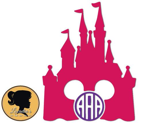 570x428 Disney Castle Mickey Monogram Frame , Princess Castle Silhouette