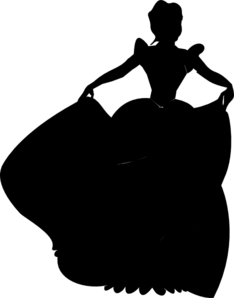 234x298 Princess Silhouette Clip Art