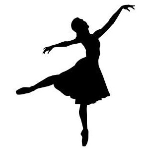 300x300 Free Ballerina Silhouette Clipart Collection