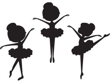 Shocking image in ballerina silhouette printable