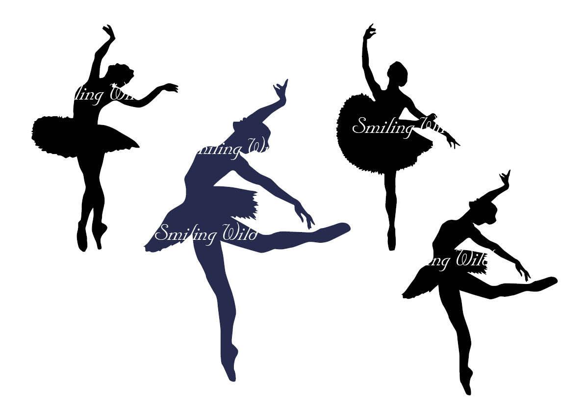 photo regarding Printable Ballerina Silhouette named Balerina Black Barbie Silhouette Printable: Youngster Ballerina