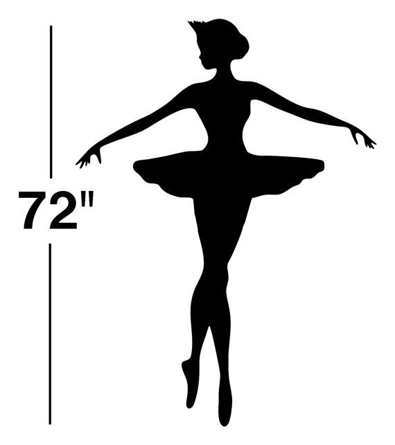 570x643 Ballerina Life Size Six Foot Wall Decal Sticker By Davincidecals