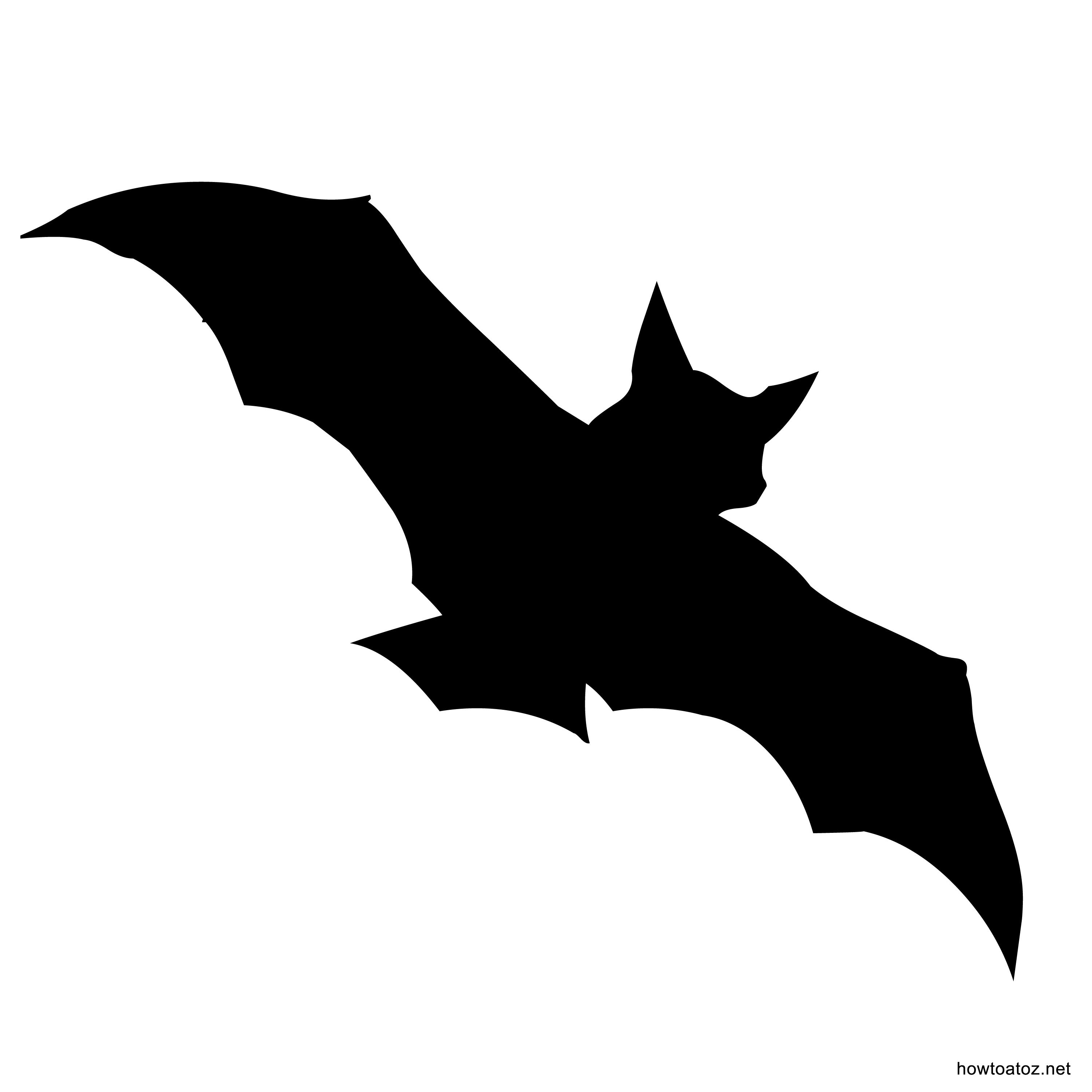graphic about Printable Bat identified as Printable Bat Silhouette at  No cost for