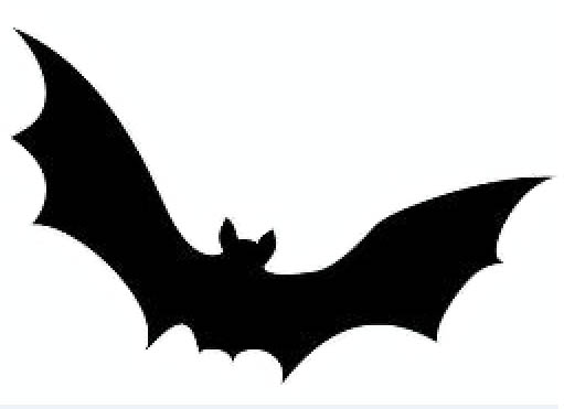 graphic relating to Bat Template Printable referred to as Printable Bat Silhouette at  Absolutely free for