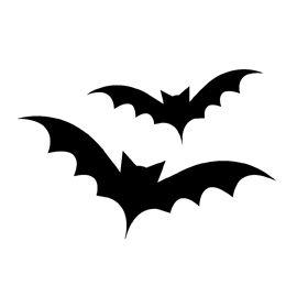 270x270 Bat Silhouette Stencil 02 Decals And Stencils Bat