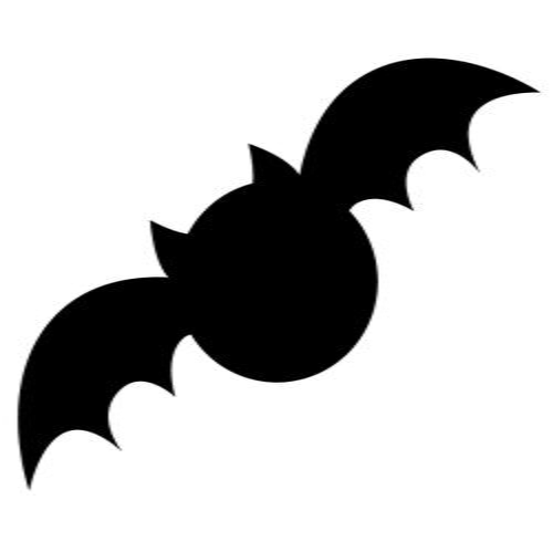 picture regarding Printable Bat Template known as Printable Bat Silhouette at  Free of charge for
