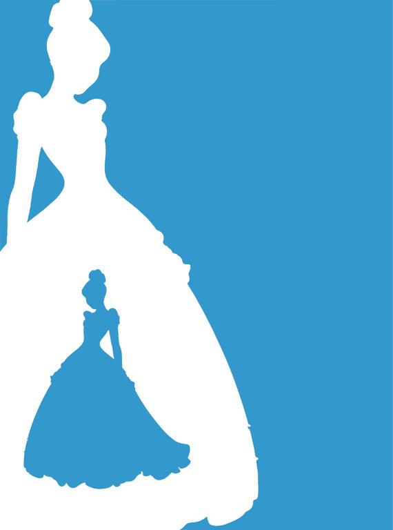 570x768 Cinderella Silhouette Clipart Collection