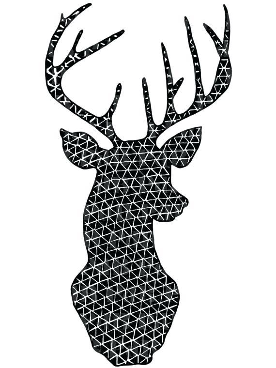 570x760 How To Make Reindeer Paw Prints Printable Coloring Geometric Deer