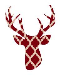 200x250 Deer Head Silhouette Printables