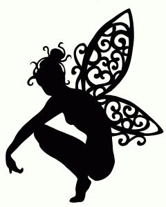 Printable Fairy Silhouette