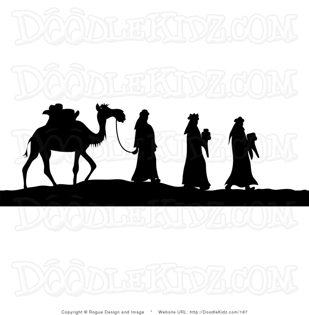 graphic relating to Free Printable Nativity Silhouette called Printable Nativity Silhouette at  Absolutely free for