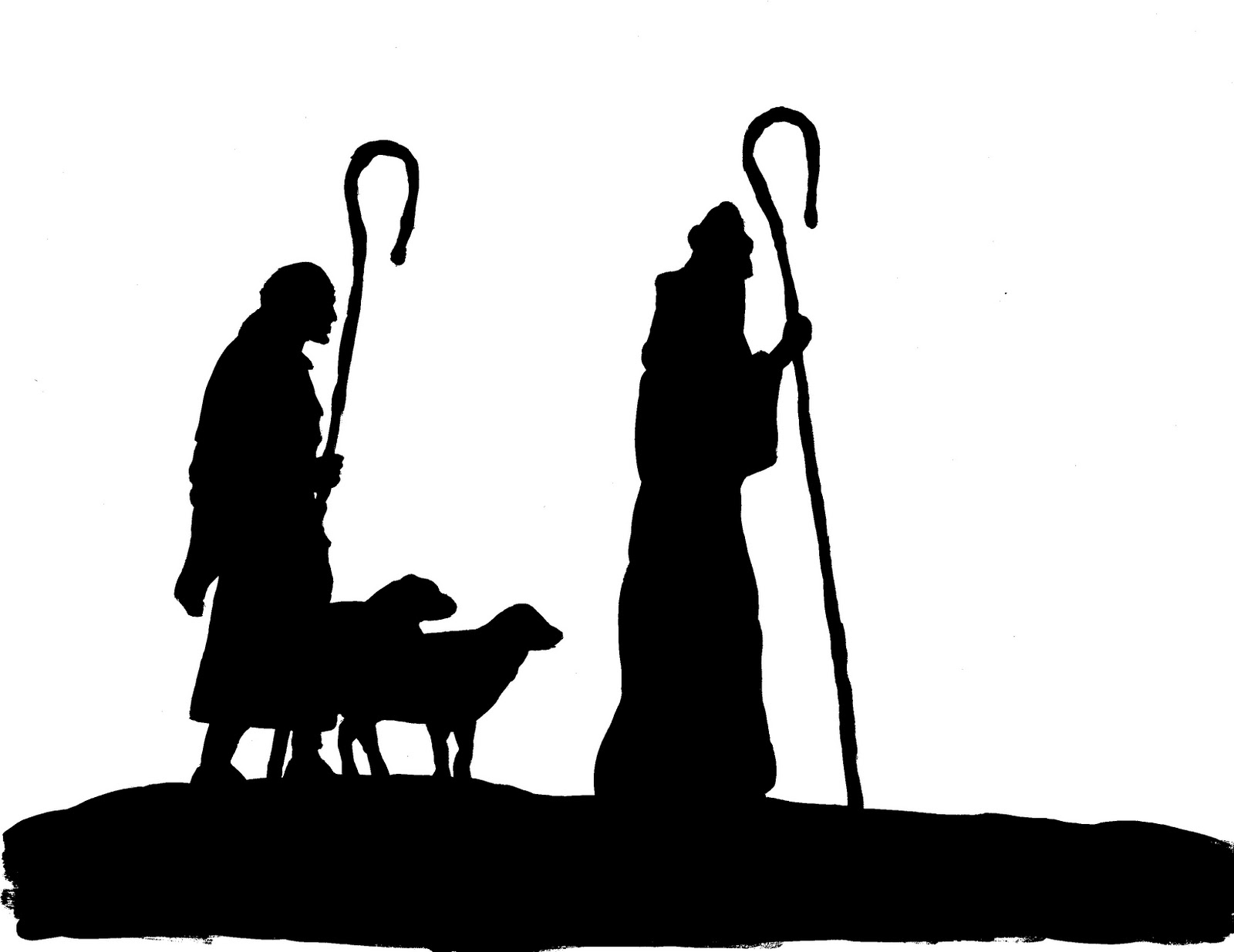 photograph about Nativity Scene Silhouette Printable identified as Printable Nativity Silhouette at  Free of charge for