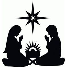graphic about Free Printable Nativity Silhouette named Printable Nativity Silhouette at  No cost for