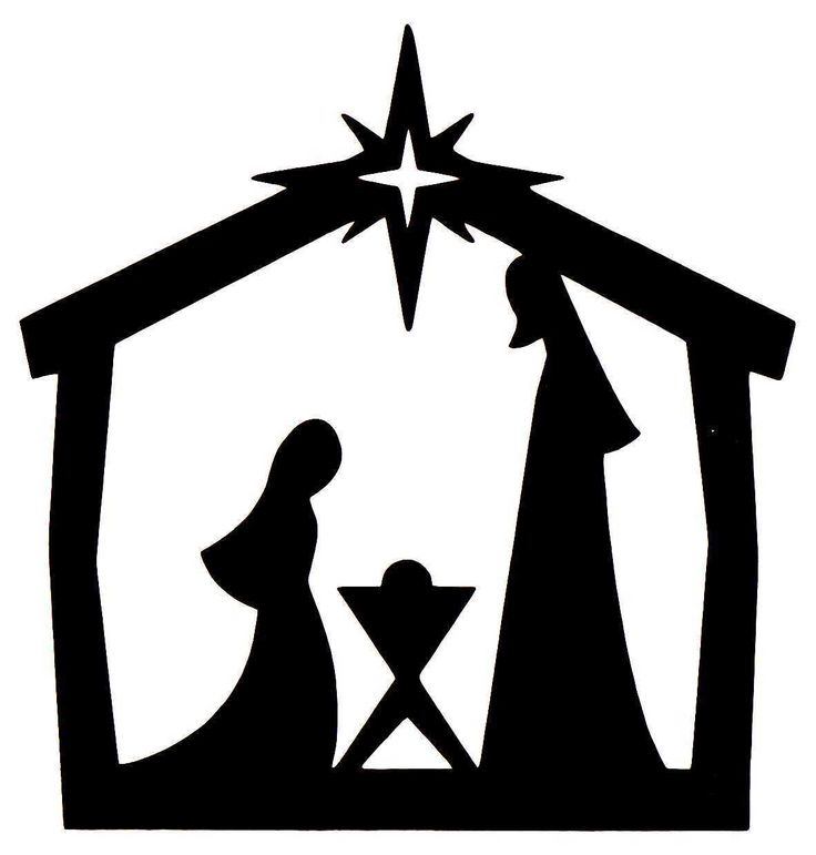 736x771 Nativity Scene Silhouette Printable Pages To Print