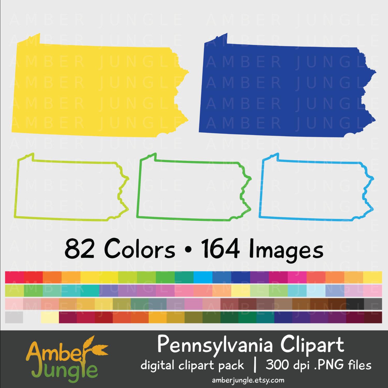 1500x1500 Pennsylvania Silhouette Clipart Pa State Clip Art Penn Map