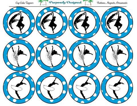 480x371 Ballet Silhouette Printable Party Tags