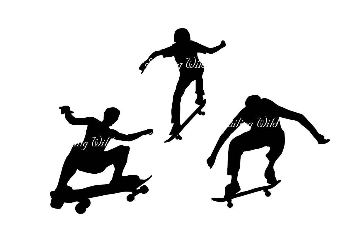 1191x842 Skateboard Svg Silhouette Clipart Skateboard Art Printable Cutouts