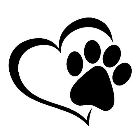 480x480 Clever Dog Print Paw Clip Art Black Silhouette Fabric