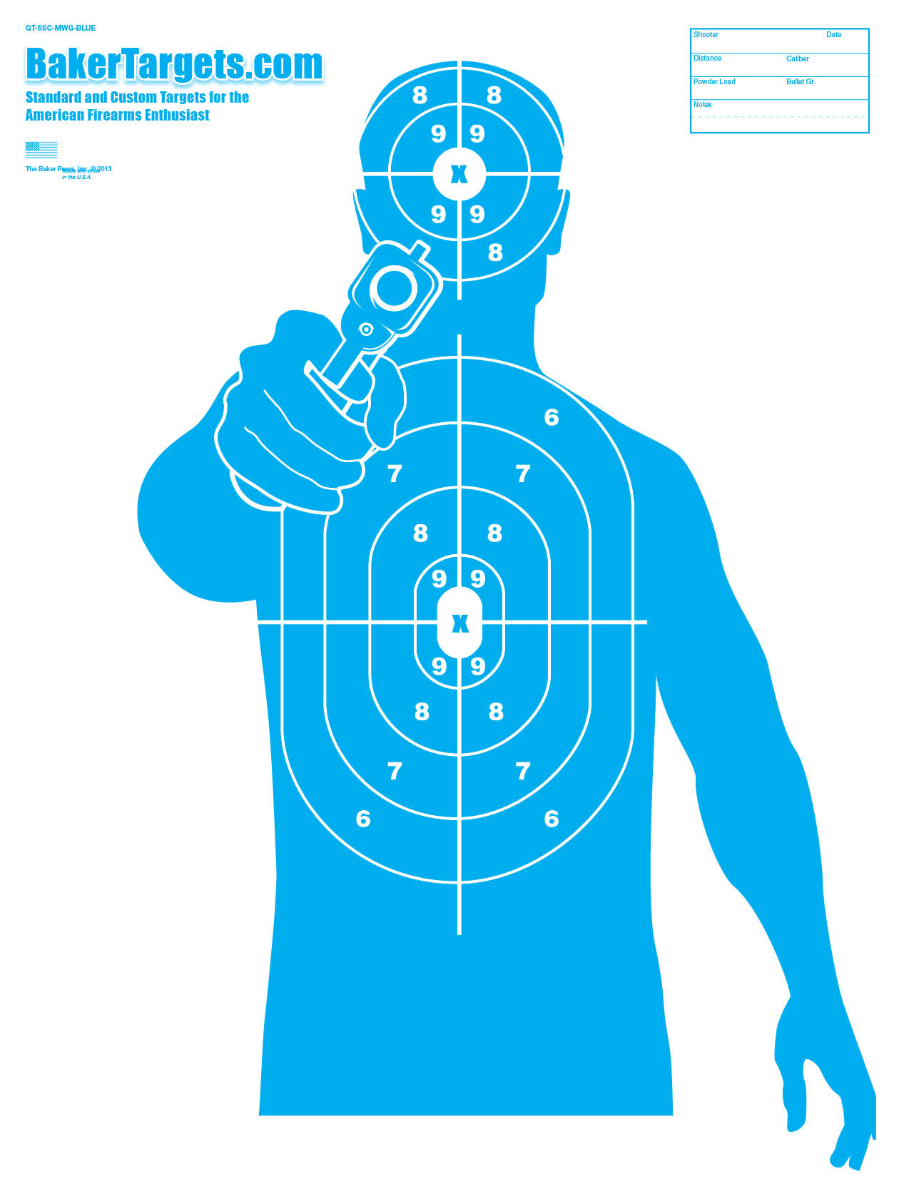photograph about Printable Air Rifle Targets identified as Printable Silhouette Concentrate at  Totally free for