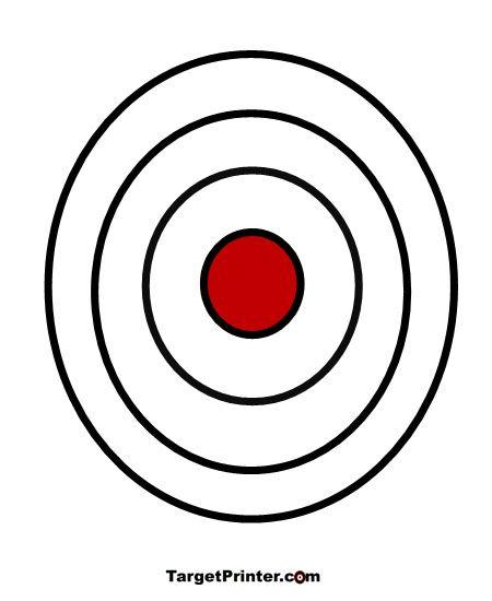 450x550 Printable Target Large Bullseye Gun Shooting Range Targets
