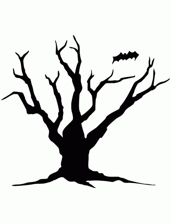Printable Tree Silhouette