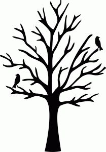 graphic relating to Tree Pattern Printable identify Printable Tree Silhouette at  Free of charge for