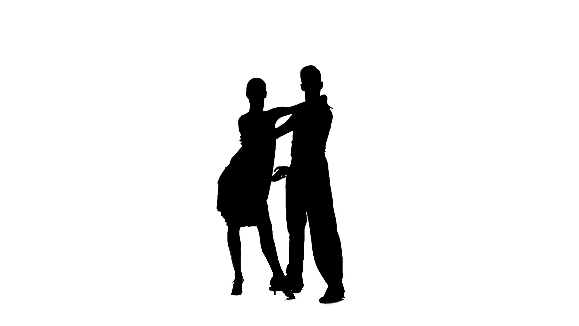 1920x1080 Couple Silhouette Professional Dancing Jive On White Background