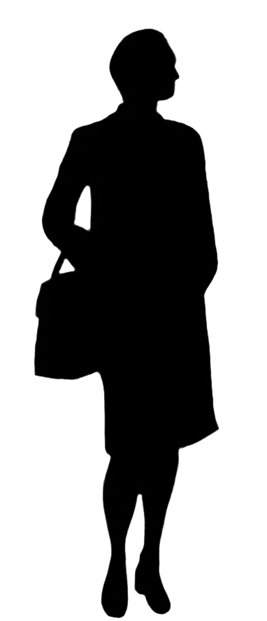 382x886 Silhouettes Of People