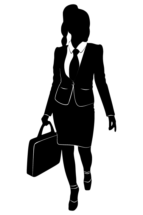 480x720 Professional Women Vector Silhouettes Set 22