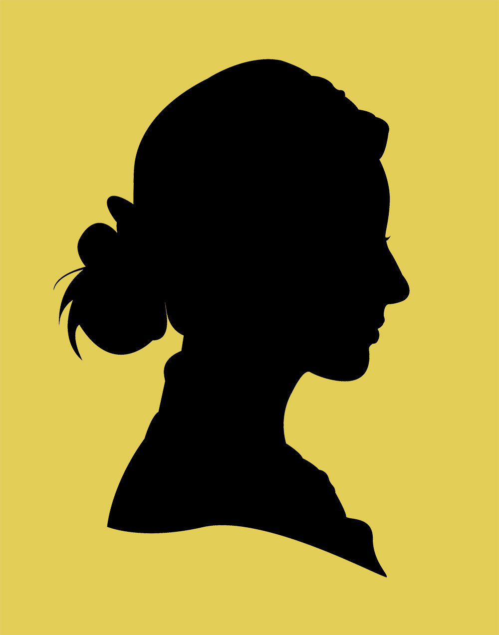 1000x1273 2 Traditional Profile Silhouettes, Bride Amp Groom Silhouette