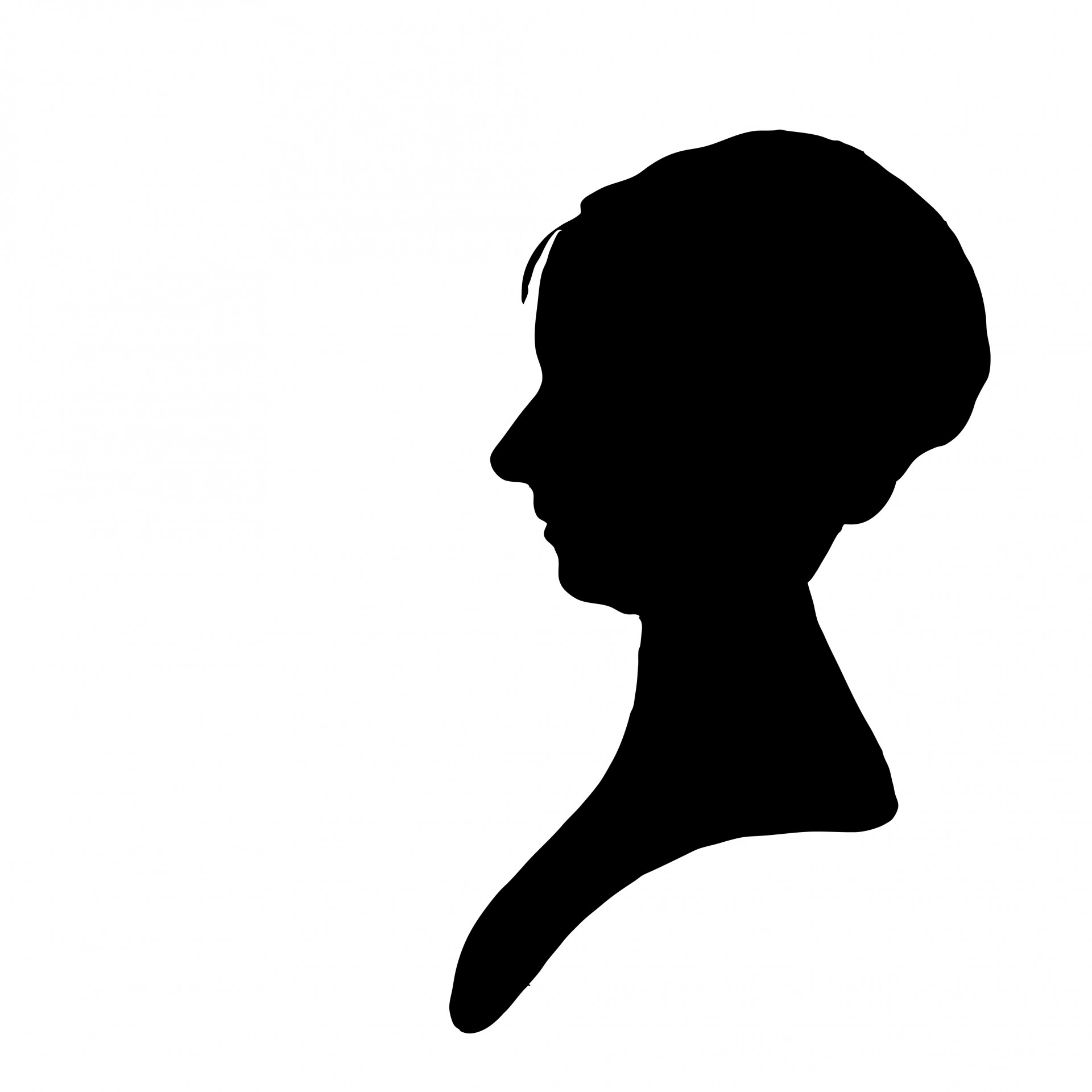 1920x1920 Woman Profile Silhouette Clipart Free Stock Photo