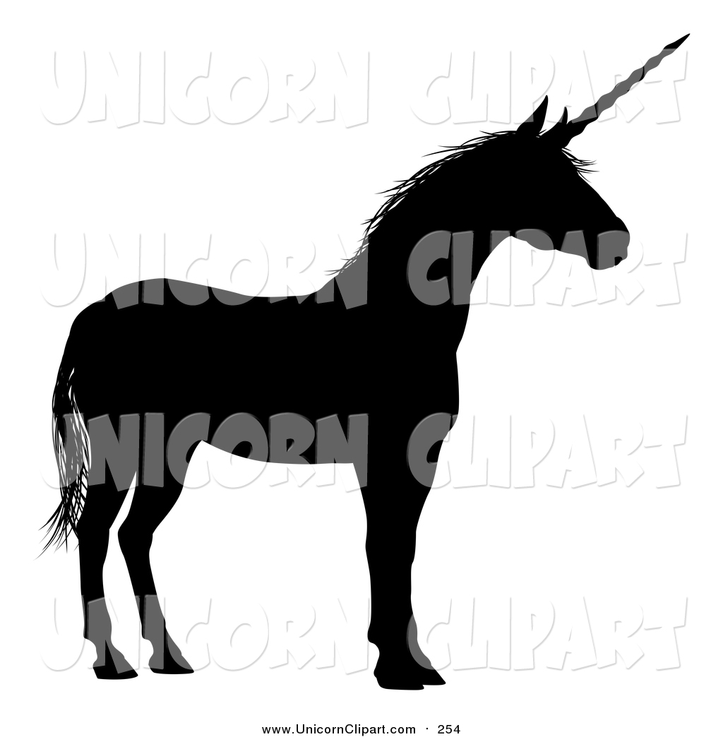 1024x1044 Fantasy Vector Clip Art Of A Black Silhouette Of A Unicorn