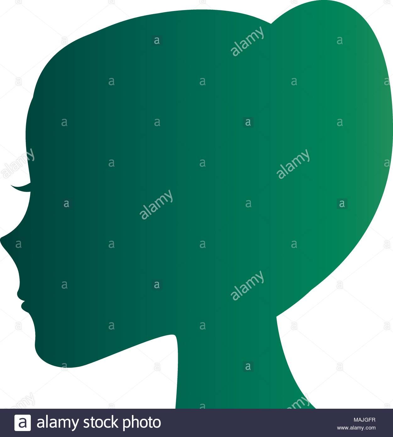 1251x1390 Female Head Profile Silhouette Vector Illustration Design Stock