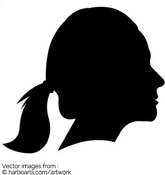 335x355 Download Girl With Ponytail Silhouette