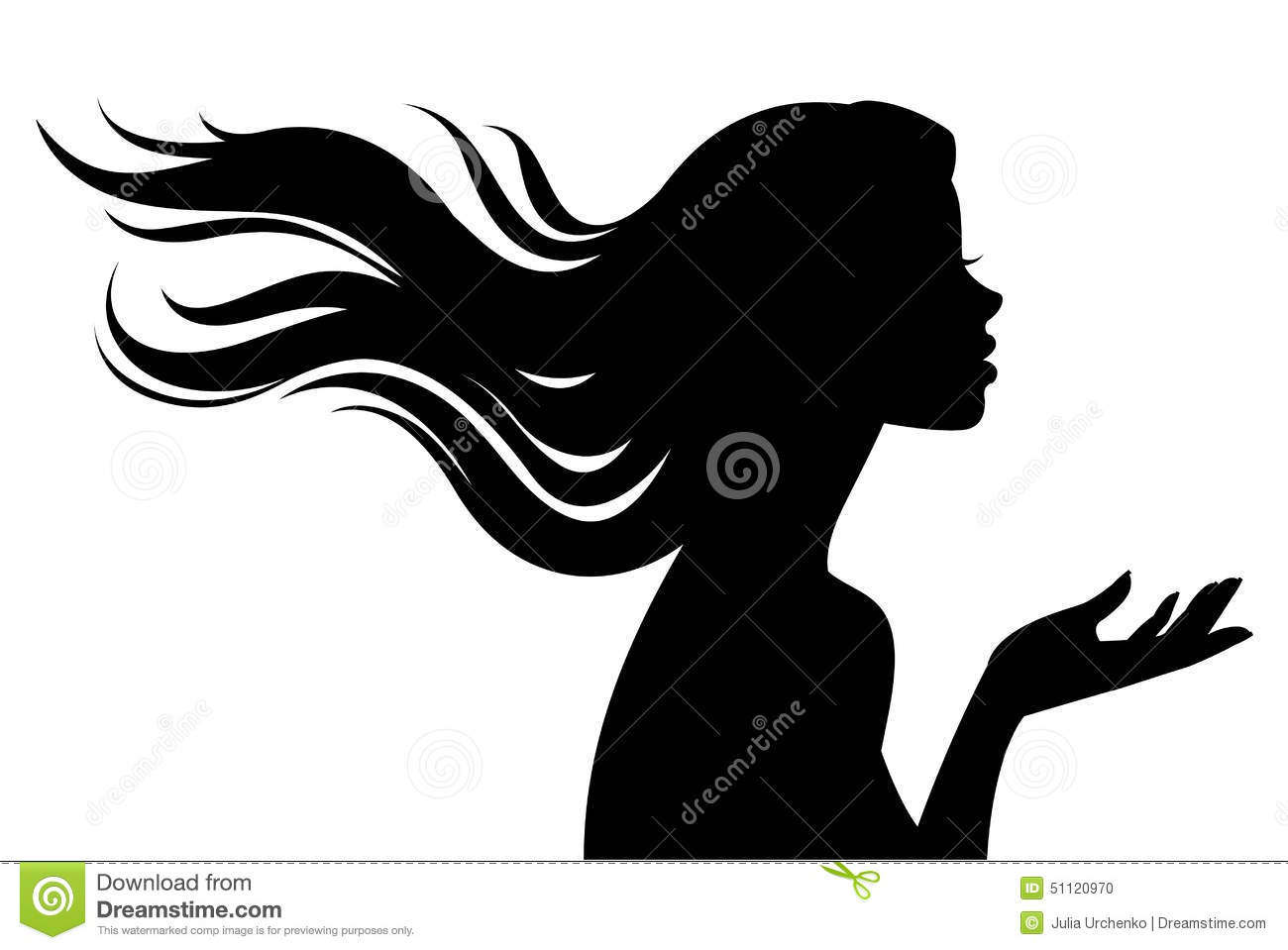 1300x959 Profile Clipart Pretty Lady